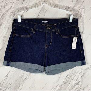Old Navy Dark Washed Stretch Cuffed Hem Shorts